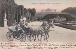 Austria Wien Schloss Schoenbrunn Kaiser Franz Josef I With Horse And Carriage 1903 - Königshäuser