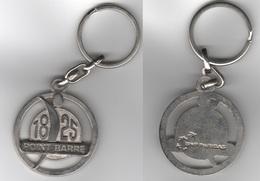 PORTE CLEFS PUBLICITAIRE 1825 POINT BARRE - BANQUE BNP PARIBAS - Key-rings