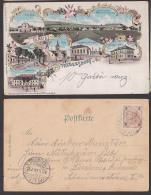 Trebersdorf Bei Wien Gruss Aus Litho-Ak 1899 Mit Gemeindegasthaus, Marien-Heim,Villa Böck - Vienna