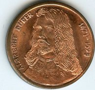 Médaille Jeton Allemagne Germany Albrecht Dürer 1971 - Professionnels/De Société