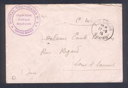 """25 - Besançon - Cachet  """" Hôpital Temporaire N° 2 - Chaprais Besançon - Marcophilie (Lettres)"""
