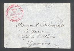 """25 - Pontarlier -  Cachet  """" Hôpital Auxiliaire N° 107 - Union Des Femmes De France - Pontarlier - Marcophilie (Lettres)"""