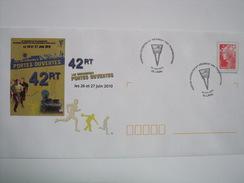 LAVAL - 53 - Portes Ouvertes 42è Régiment Des Transmissions Et  Oblitération Du 26 Juin 2010 - Marcophilie (Lettres)