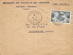 Benin Dahomey 1956 Cotonou AOF Rotary Cover - Benin – Dahomey (1960-...)