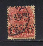 Y7 - NEW SOUTH WALES , 1 Pence Punctured Perfin OS NSW Usato - 1850-1906 New South Wales