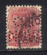 Y36 - NEW SOUTH WALES , 1 Pence Punctured Perfin OS NSW Usato - 1850-1906 New South Wales