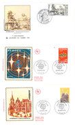 3 Enveloppes 1er Jour, Europa 1972 & Rembrandt 1983 ( Journée Du Timbre Avignon 1983 & Paris 1972 ) - Otros