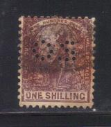 Y101 - NEW SOUTH WALES , 1 Shilling Punctured Perfin OS Usato - 1850-1906 New South Wales