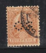 Y234 - NEW SOUTH WALES , 4 Pence Punctured Perfin OS Usato - 1850-1906 New South Wales