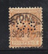 Y237 - NEW SOUTH WALES , 4 Pence Punctured Perfin OS Usato - 1850-1906 New South Wales