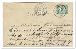 Briefkaart Van Leeuwarden Naar Wormerveer 11-mrt-03 12-6V Aank. 11-mrt 1-2N - Periode 1891-1948 (Wilhelmina)