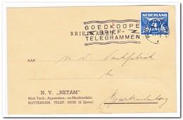 Briefkaart Van Rotterdam Naar Geertruidenberg 1938 ( NETAM Ned. Tank, Apparaten En Machinefabr. ) - Periode 1891-1948 (Wilhelmina)