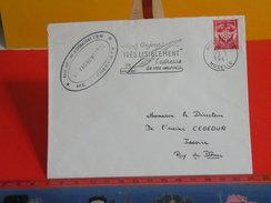 Marcophilie > Lettre > Flamme > 57 Moselle > Metz > Très Lisible L'adresse D'envoie - 1961 - Franchise Militaire - Franchigia Militare (francobolli)