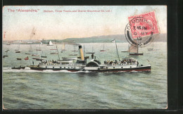 AK The Alexandria, Saltash, Three Towns And District Steamboat Co. Ltd., Raddampfer - Unclassified