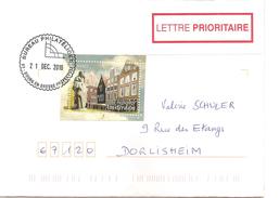 Timbre Le Béguinage D'Amsterdam Sur Lettre Et Belle Oblitération Ronde Bureau Philatélique De Bourg En Bresse - France