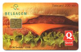 Belgique, Belgacom, Telecard 200 BEF, Thème, Pub, Quick - Pubblicitari