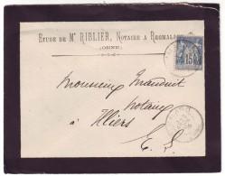 ORNE - LSC - Tàd T84 REMALARD Sur N° 90 Pour Illiers (27) - Marcophilie (Lettres)