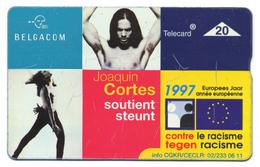 "Belgique, Belgacom, Telecard 20, Thème, Personnages, Joaquim Cortes, ""Contre Le Racisme"" - Personaggi"