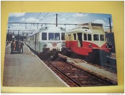 TRAIN 2137 - TIRAGE 100 EX - 87 LIMOGES 27 JUIN 1956 RGP BIMOTEUR (SERIE X2701 A X2720) AUTORAIL VH RENAULT (SERIE X2031 - Limoges