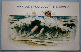"""2. D. Tempest Artists Signed Postcard """"SEASIDECOMIC"""", Vintage - Illustrators & Photographers"""