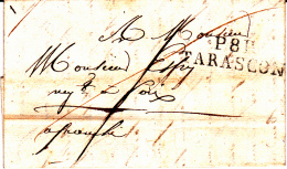 08 ARIEGE - P.8.P TARASCON Marque Linéaire - 1827 - Marcofilia (sobres)
