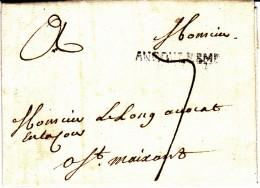 15 CHARENTE - ANGOULEME - 1775 - 1701-1800: Precursores XVIII