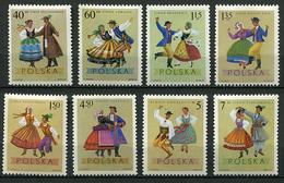 Pologne ** N° 1801 à 1808 - Costumes Régionaux - - Unused Stamps
