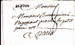 20 COTE D'OR - BEAUNE - 1789 - Marcophilie (Lettres)