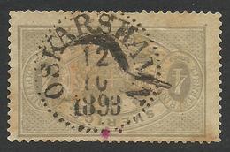 Sweden, 4 O. 1882, Scott # O14a, Used. - Service