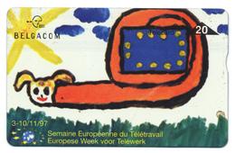 Belgique, Belgacom, Telecard 20, Thème, Travail, Semaine Européenne Du Télétravail - Schede Telefoniche