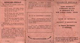 CARTE SÉCURITÉ SOCIALE De NORMANDIE 1975 - Découpis
