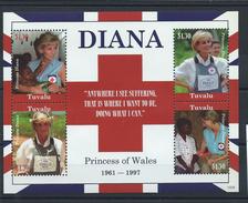 Tuvalu N° 1370/73** (MNH) 2009 - Lady Diana - Familles Royales
