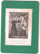 SANTINO HOLY CARD IMAGE PIEUSE S. PAOLO DELLA CROCE A PARBONI INC. 1700 1800 AREA ITALIANA - Religion &  Esoterik
