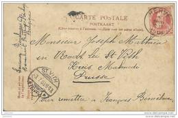 RODT ..-- BOUILLON ..-- Rue Des Faubourgs . Précurseur . 1908 Vers RODT , St-VITH , Prusse .  Voir Verso . - Sankt Vith
