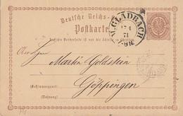 DR Ganzsache Nachv. Stempel K2 M.Gladbach 17.4.74 - Briefe U. Dokumente