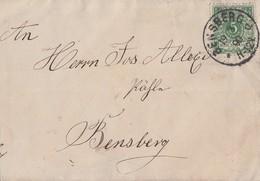 DR Ortsbrief EF Minr.46 K1 Bensberg 19.3.90 - Deutschland