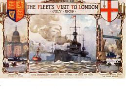 CPA (bateaux De Guerre Anglais) H .S.M DREADNOUGHT  The Fleet S Visit To London July 1909  (boite 2) - Guerra