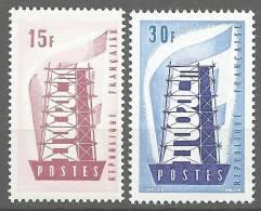 "Yt 1076 à 1077 "" EUROPA  1956 ""neuf **"