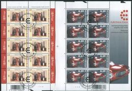 2003 Belgio, Europalia Italia 2003, Congiunta Con L'Italia Minifogli Con Annullo Ufficiale - Joint Issues
