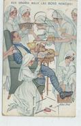 Sager Xavier (Illustrateur) :  GP D'un Militaire Se Faisant Soigné Par 8 Infirmière  En 1914 (animée) PF. - Sager, Xavier