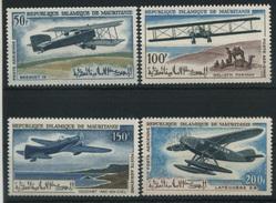 1966 Mauritania, Aerei Storici Posta Aerea, Serie Completa Nuova (**) - Mauritania (1960-...)