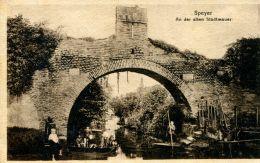 N°29840 -cpa Speyer -an Der Algten Stadtmauer- - Speyer