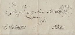 Brief Erfurt 14.7. Gelaufen Nach Halle Stempel Ansehen !!!!!!!! - [1] ...-1849 Préphilatélie