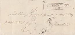 Preussen Brief R2 Schubin 9.4. Gel. Nach Bromberg - Preussen