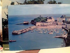 WALES  -THE HARBOUR FROM ROYAL LION HOTEL, TENBY V1968 FW9495 - Pembrokeshire