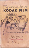 BRITISH INDIA - ENVELOPE OF PHOTO STUDIO - ADVERTISEMENT OF KODAK FILM - PHOTOGRAPHY THEME - Photography