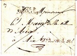 25 DROME - P.25.P. SAILLANS - 1826 - Marcofilia (sobres)