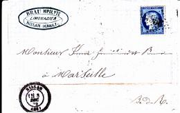 33 HERAULT - GC 4956 + T24 NISSAN - 1872 - Poststempel (Briefe)