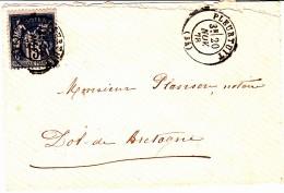 34 ILLE Et VILAINE - PLEURTUIT - 1878 - Postmark Collection (Covers)