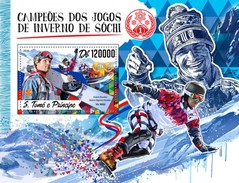 S. Tomè 2016, Olympic Games In Sochi, Winners, Snowboard, BF - Skateboard